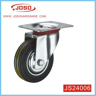 Popular 4 Inch Rubber Caster for Wheelbarrow