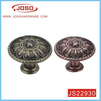 Retro Round Antique Copper Knob for Kitchen Door