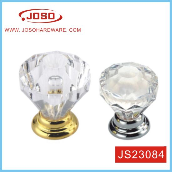 25mm Clear Crystal Door Knobs in Kitchen
