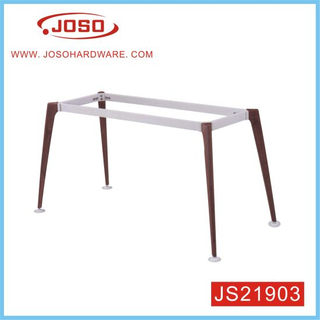 Wood Colour Metal Table Leg for Office
