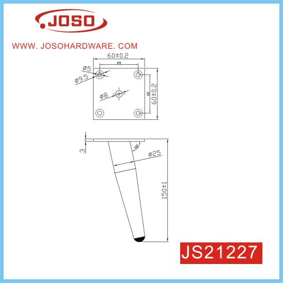 High Qualtiy Metal 120mm Height Furniture Leg for Couch