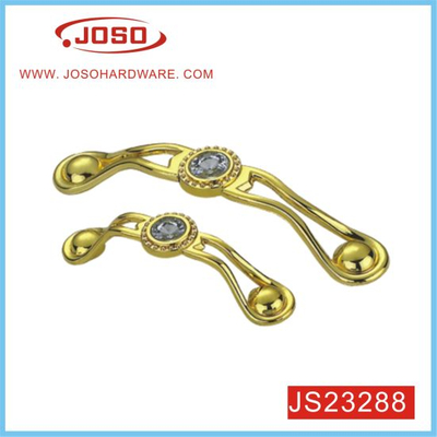 Popular Metal Gold Diamond Furniture Handle for Bedroom Door